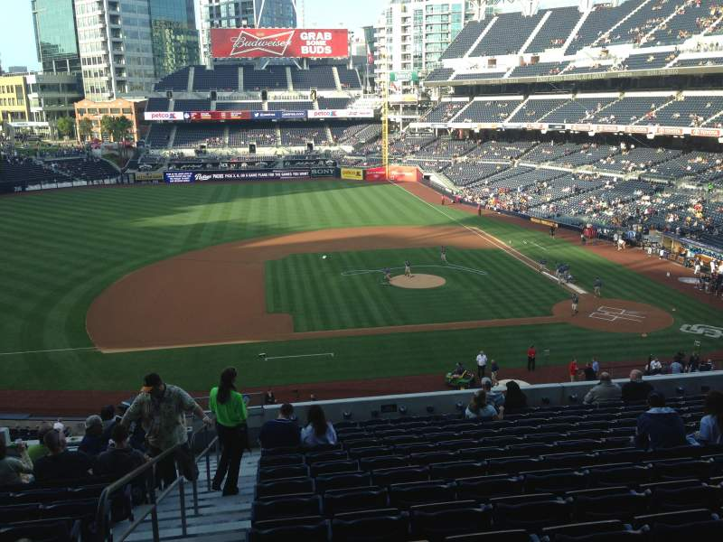 Seating view for PETCO Park Section 208 Row 14 Seat 11