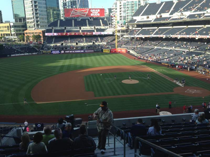 Seating view for PETCO Park Section 210 Row 11 Seat 1
