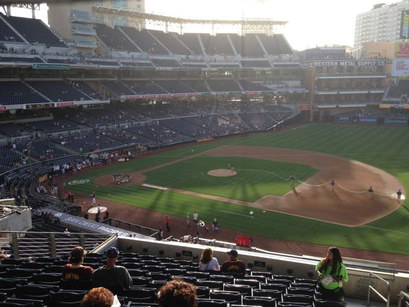 Seating view for PETCO Park Section 211 Row 12 Seat 12