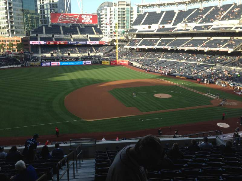 Seating view for PETCO Park Section 212 Row 13 Seat 12
