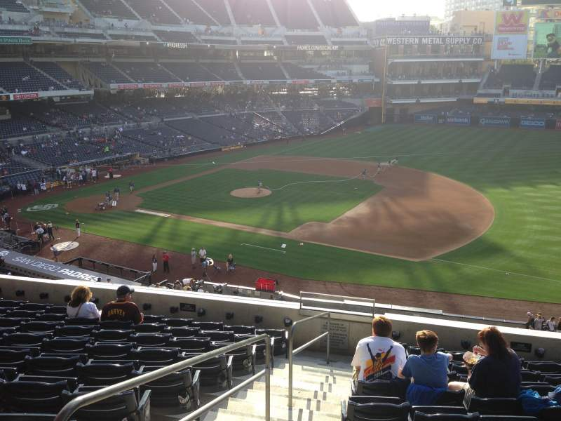 Seating view for PETCO Park Section 213 Row 10 Seat 1