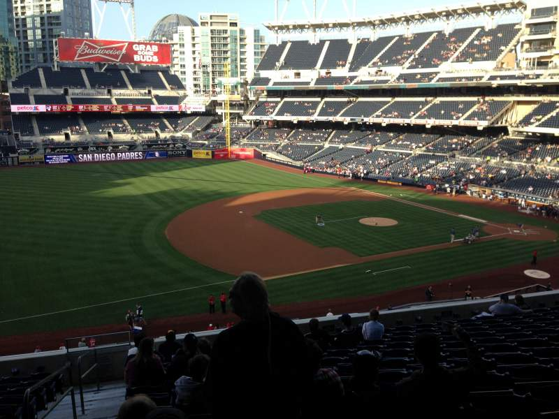 Seating view for PETCO Park Section 214 Row 13 Seat 22