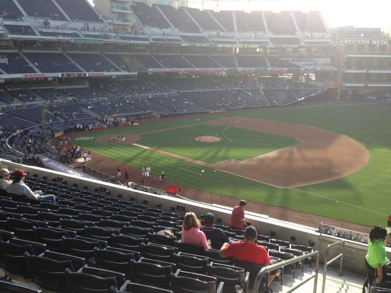Seating view for PETCO Park Section 215 Row 11 Seat 1