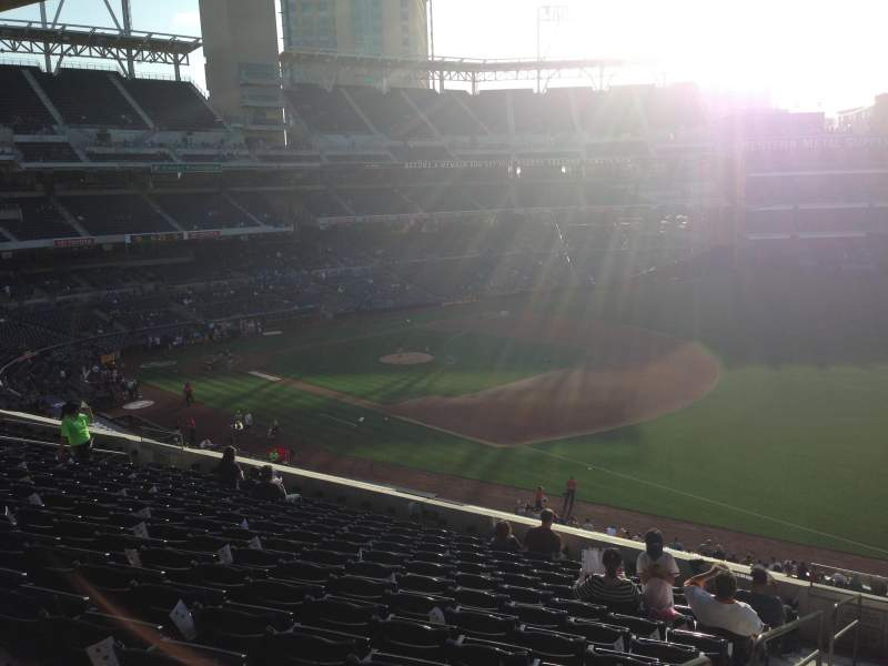 Seating view for PETCO Park Section 217 Row 13 Seat 1