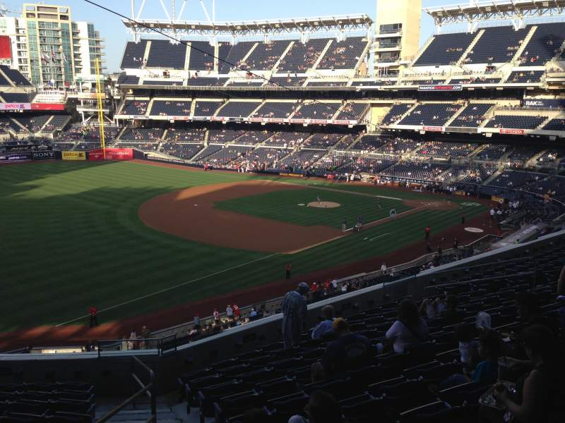 Seating view for PETCO Park Section 218 Row 11 Seat 20