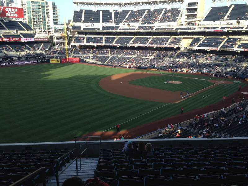 Seating view for PETCO Park Section 220 Row 13 Seat 22