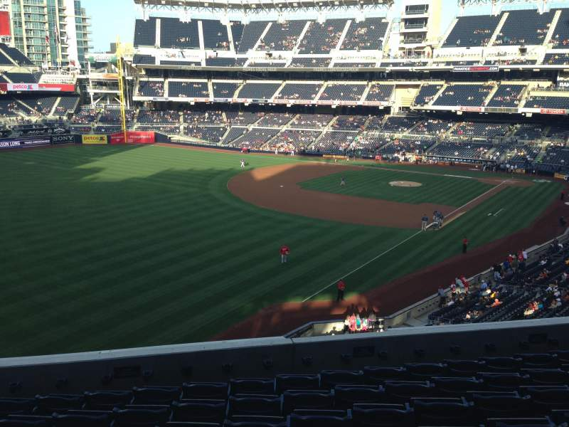 Seating view for PETCO Park Section 222 Row 8 Seat 14