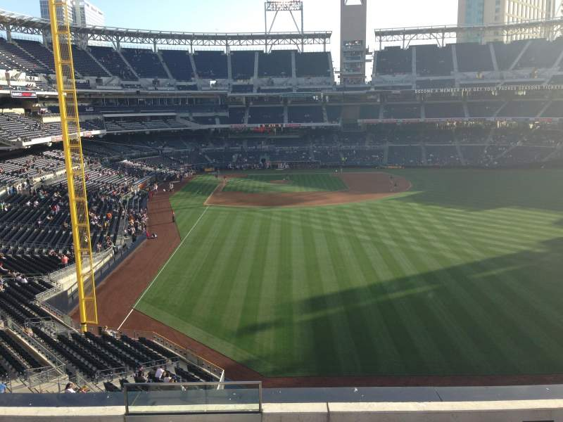 Seating view for PETCO Park Section 229 Row 6 Seat 1