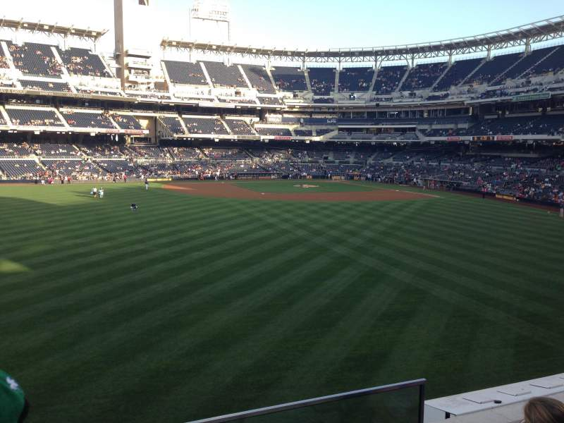Seating view for PETCO Park Section 230 Row 3 Seat 1