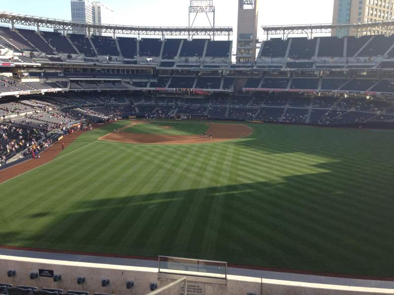 Seating view for PETCO Park Section 233 Row 8 Seat 1