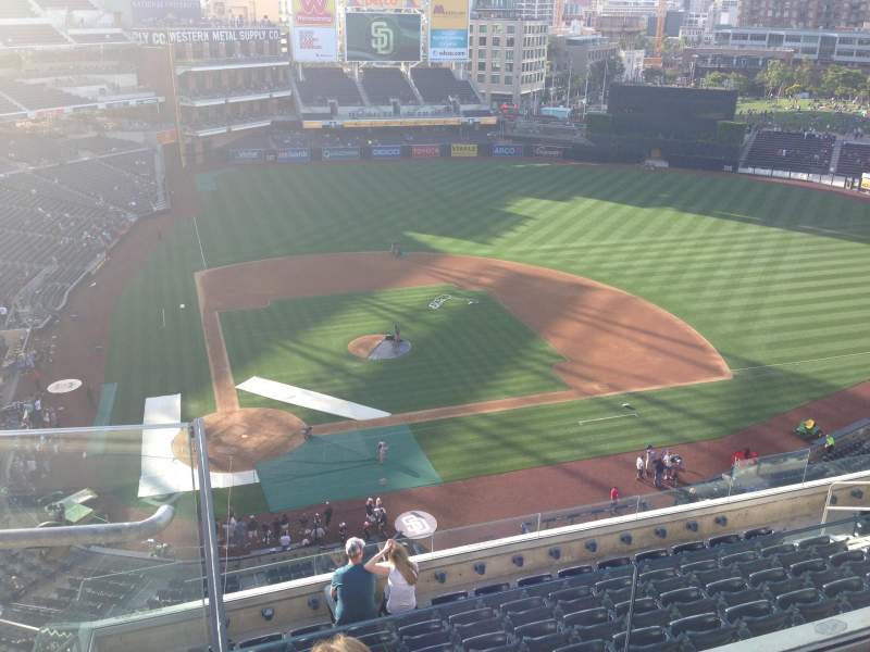 Seating view for PETCO Park Section 307 Row 9 Seat 2