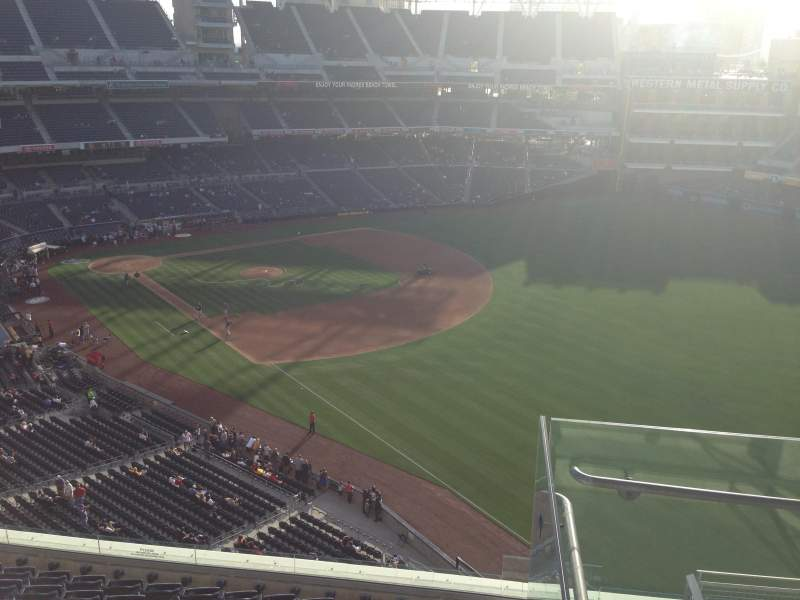 Seating view for PETCO Park Section 323 Row 10 Seat 16