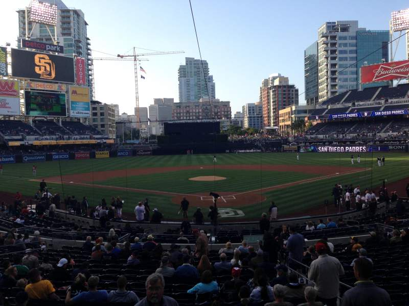 Seating view for PETCO Park Section F Row 1 Seat 4