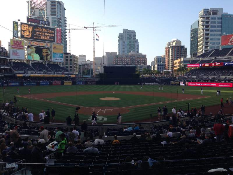 Seating view for PETCO Park Section G Row 1 Seat 6