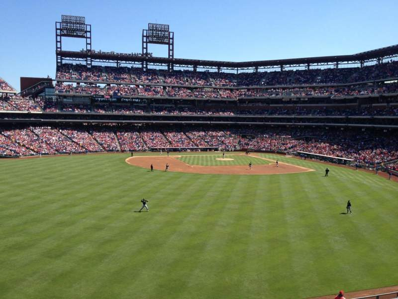 Seating view for Citizens Bank Park Section 245 Row 1 Seat 10