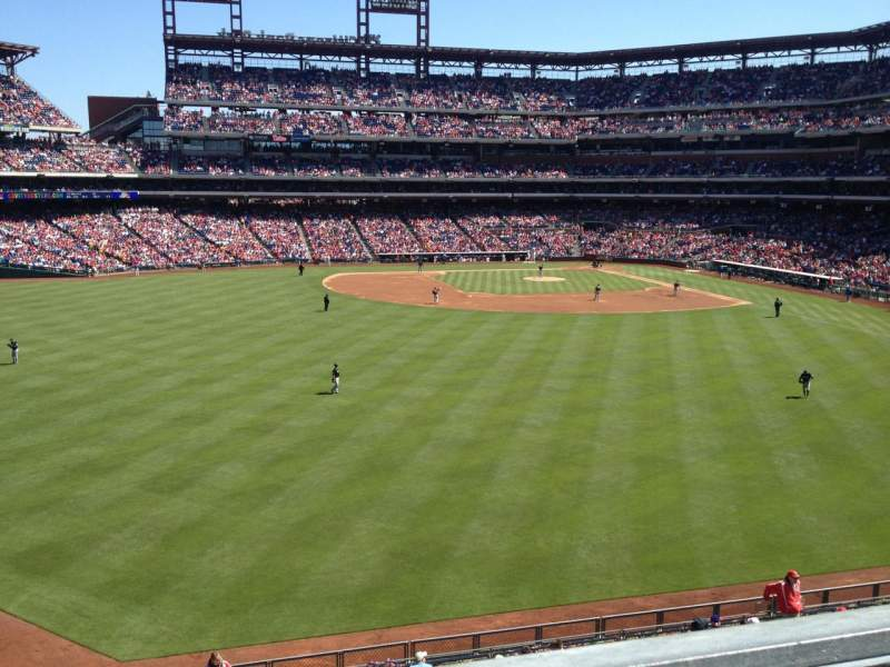 Seating view for Citizens Bank Park Section 245 Row 1 Seat 9