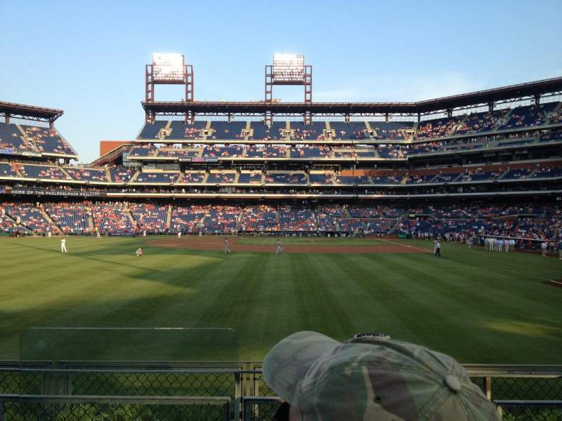 Seating view for Citizens Bank Park Section 142 Row 4 Seat 19