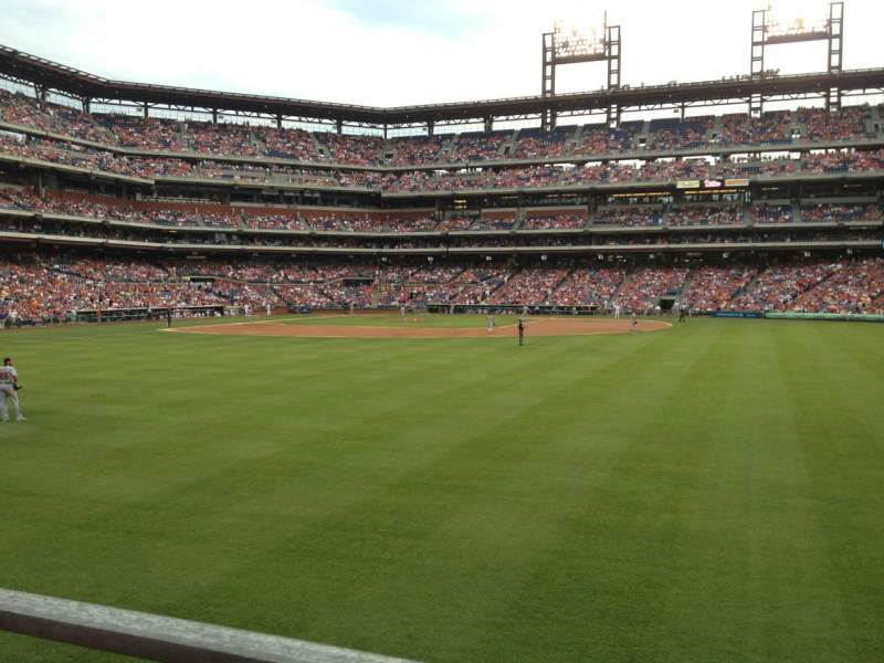 Seating view for Citizens Bank Park Section 102 Row 1 Seat 17