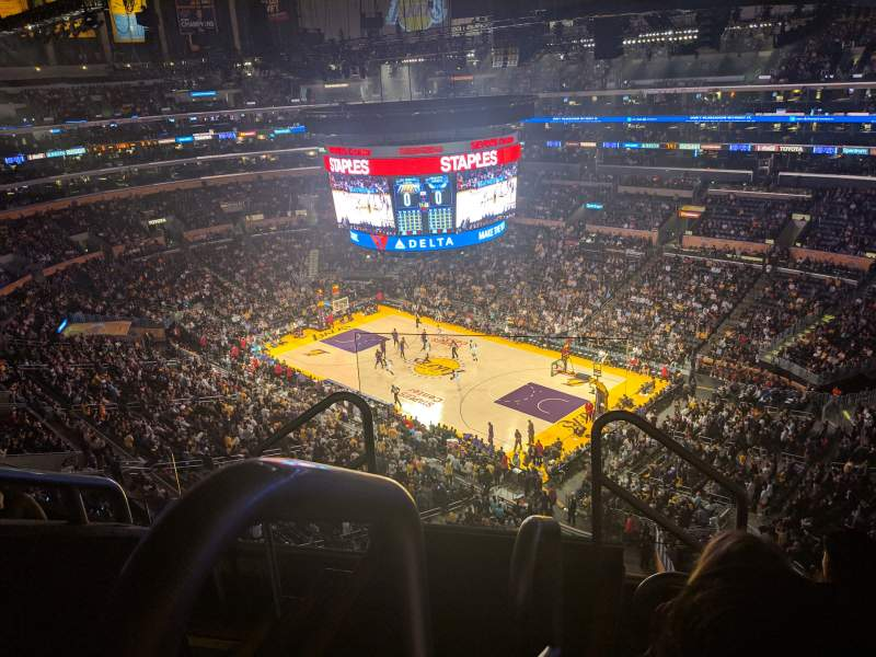 Seating view for Staples Center Section 331 Row 5 Seat 22