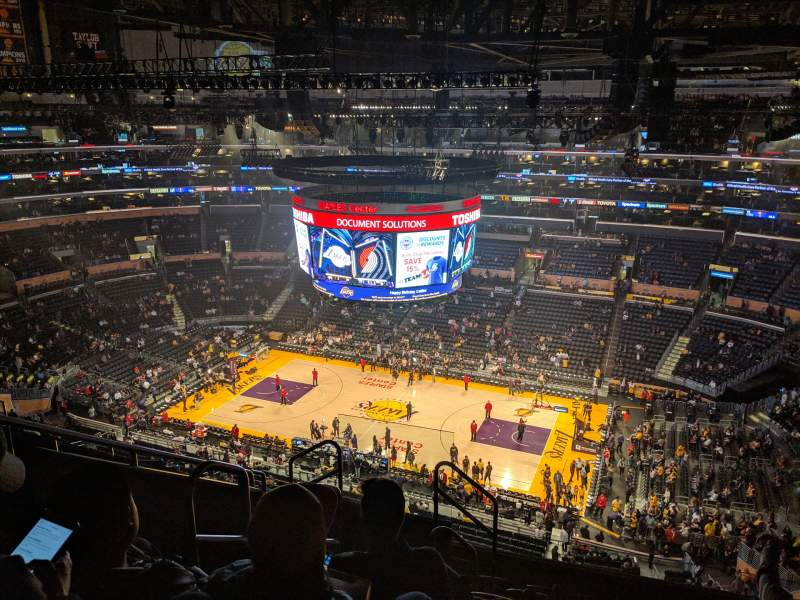 Seating view for Staples Center Section 333 Row 8 Seat 15