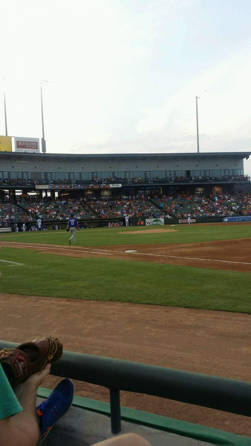 Seating view for Dell Diamond Section 125 Row 2 Seat 6
