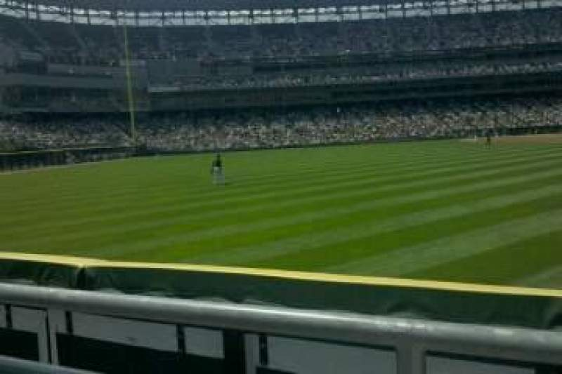Seating view for Guaranteed Rate Field Section 162 Row 1 Seat 5