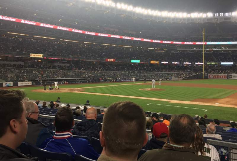 Seating view for Yankee Stadium Section 115 Row 4 Seat 2