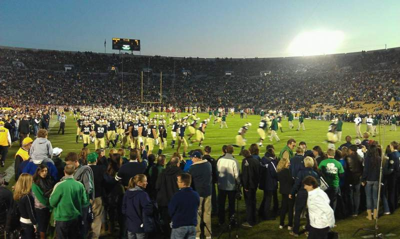 Seating view for Notre Dame Stadium Section 2 Row 4 Seat 17