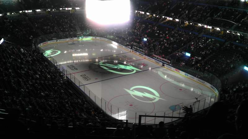 Seating view for Amalie Arena Section 311 Row K Seat 14