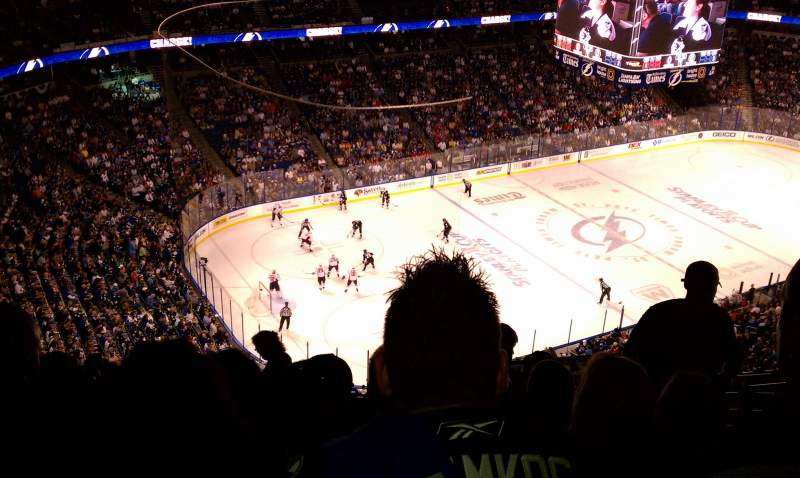 Seating view for Amalie Arena Section 305 Row N Seat 3