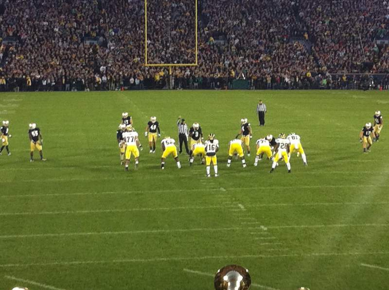 Seating view for Notre Dame Stadium Section 1 Row 23 Seat 26