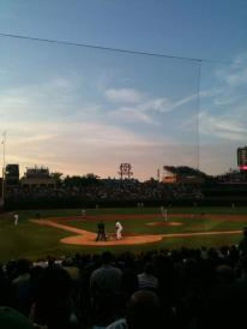 Seating view for Wrigley Field Section 123 Row 5 Seat 4