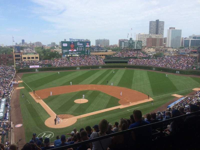 Seating view for Wrigley Field Section 420R Row 1 Seat 13