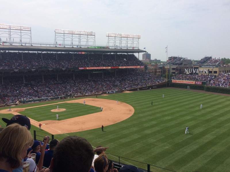 Seating view for Wrigley Field Section 330R Row 6 Seat 12