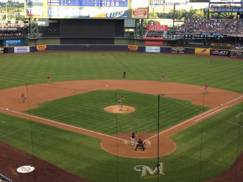 Miller Park, section: 331, row: 1, seat: 5