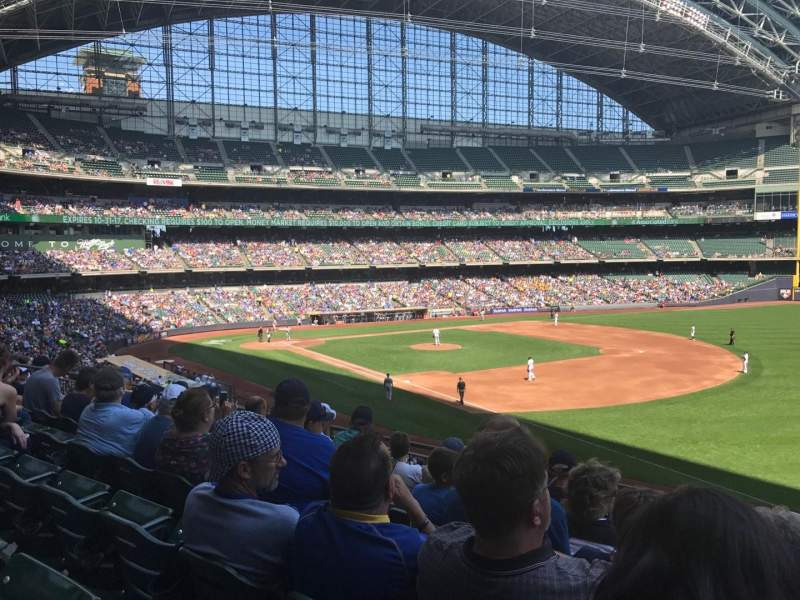 Seating view for Miller Park Section 209 Row 7 Seat 17