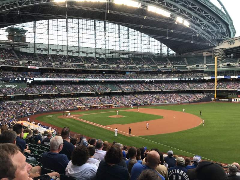 Seating view for Miller Park Section 209 Row 10 Seat 17