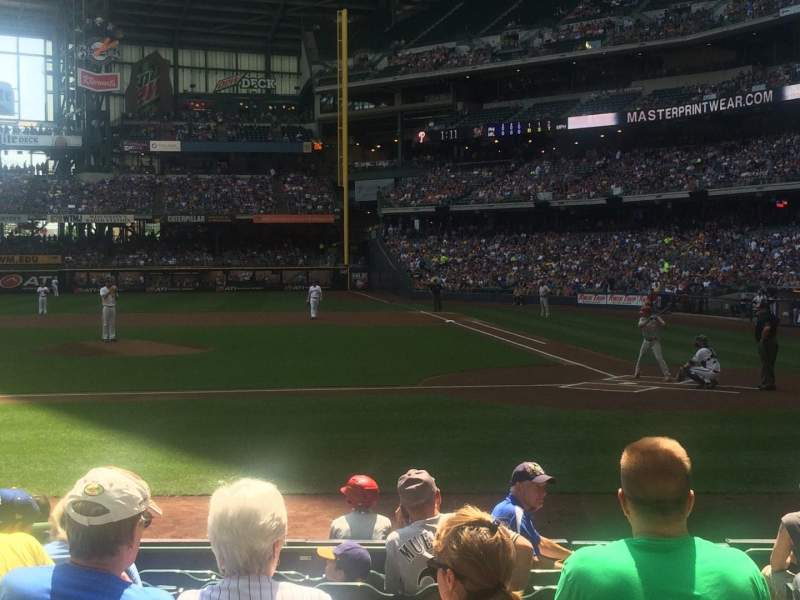 Seating view for Miller Park Section 121 Row 10 Seat 2