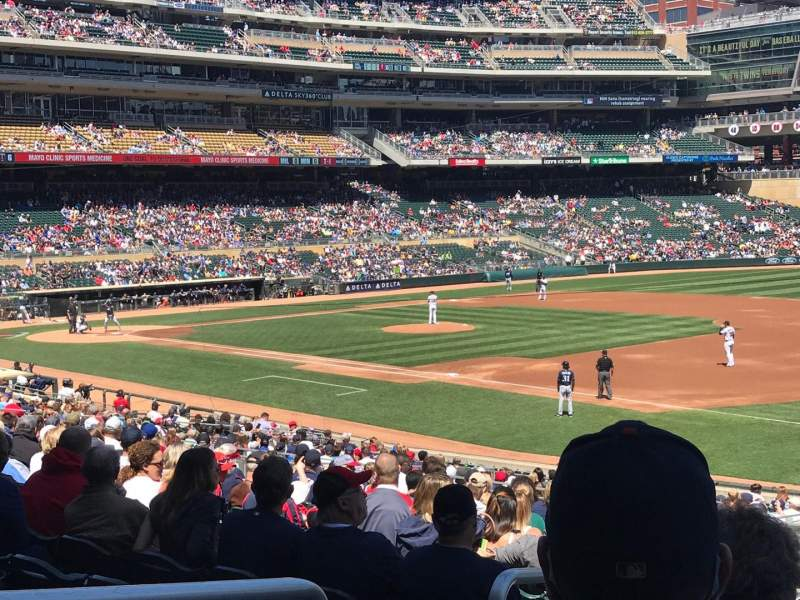 Target Field, section: 104, row: 32, seat: 21