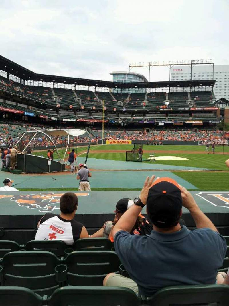 Seating view for Oriole Park at Camden Yards Section 26 Row 5 Seat 6