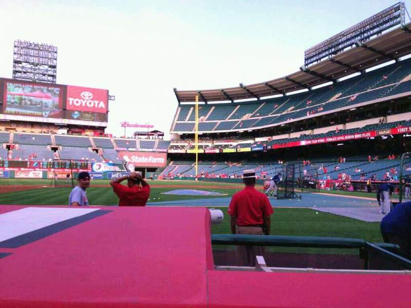 Seating view for Angel Stadium Section F112 Row C Seat 9
