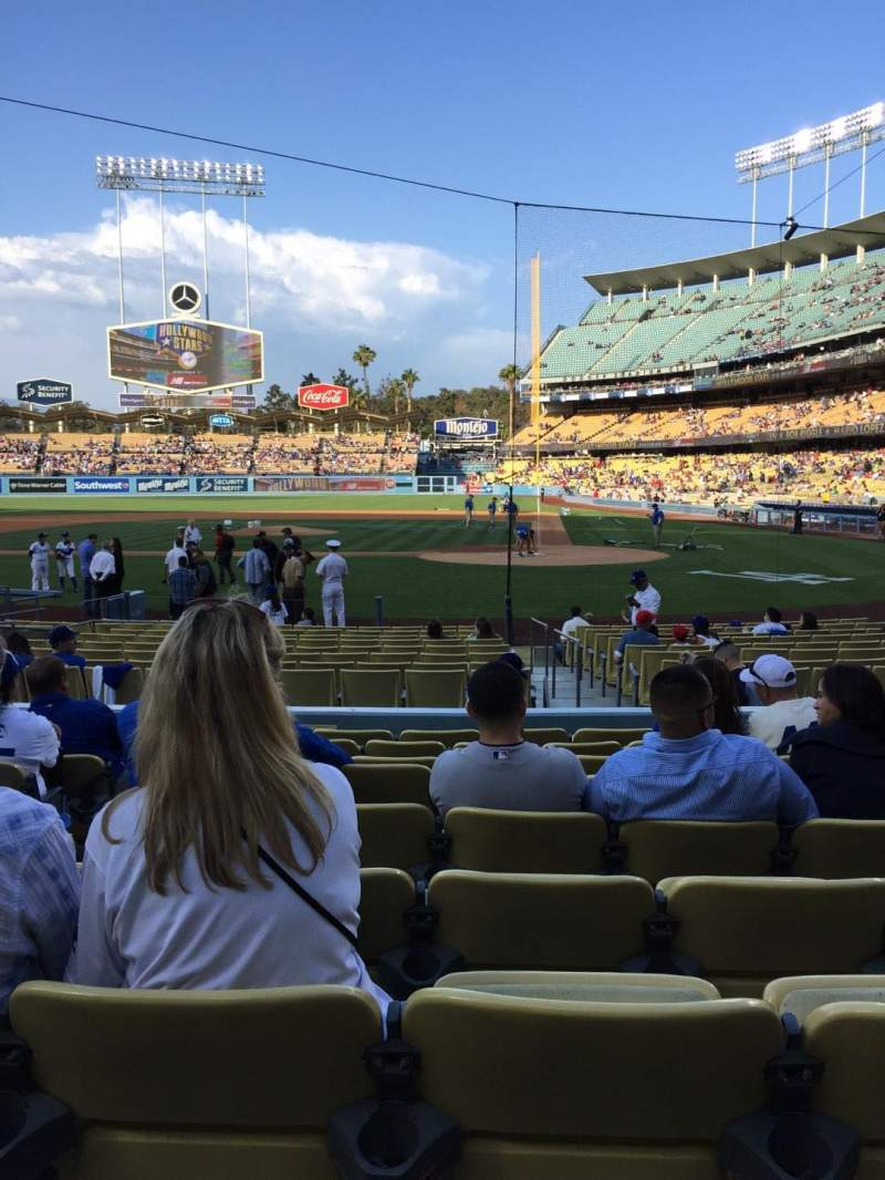 Seating view for Dodger Stadium Section 9FD Row J Seat 5