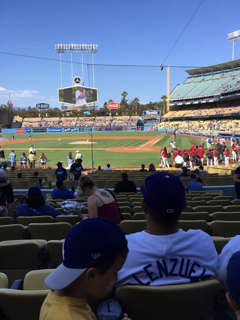 Seating view for Dodger Stadium Section 7FD Row L Seat 7