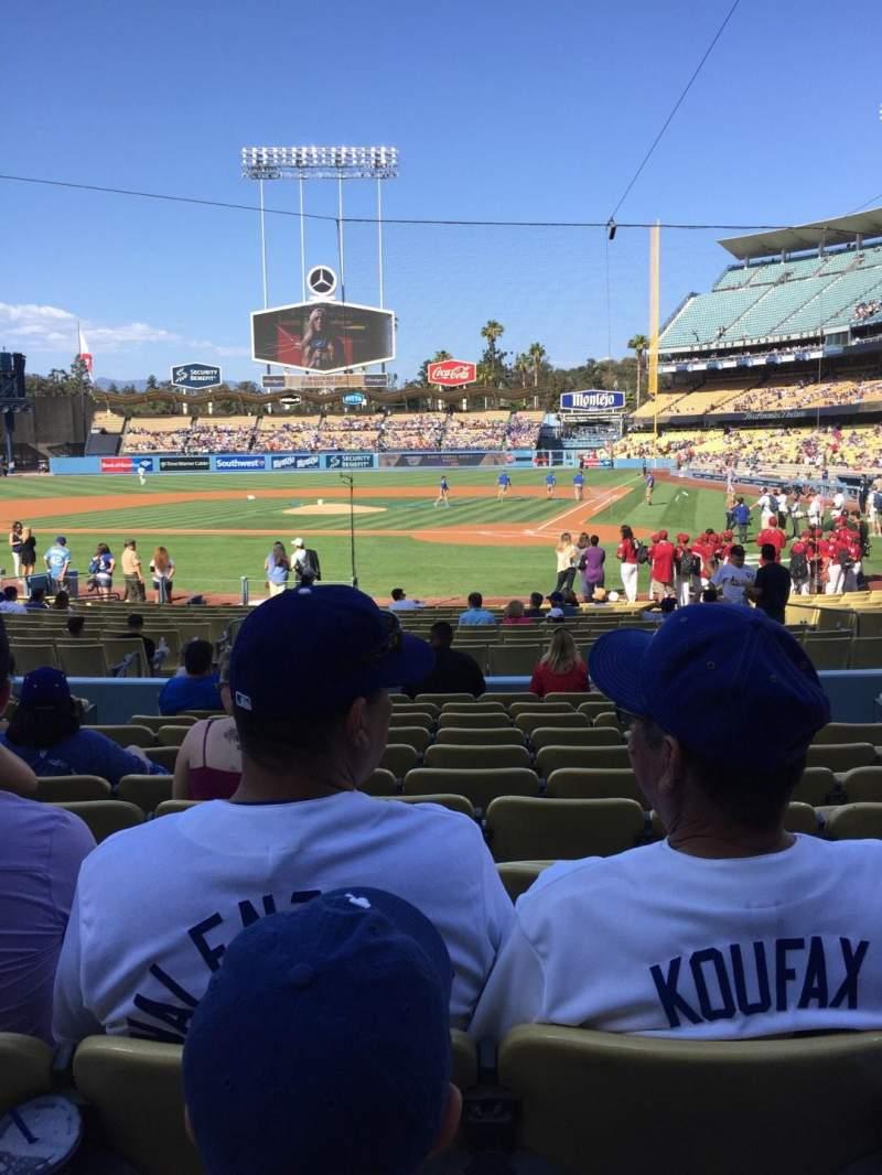 Dodger Stadium, section: 7FD, row: L, seat: 6