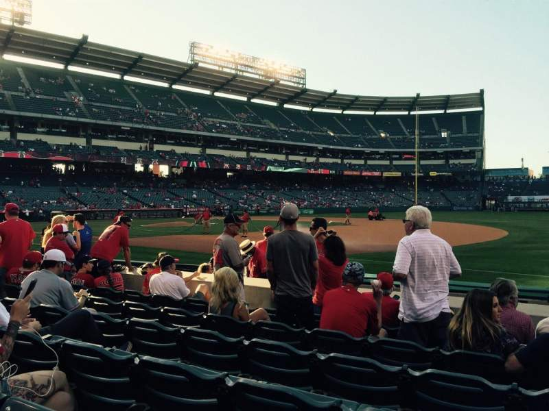Seating view for Angel Stadium Section F127 Row F Seat 12