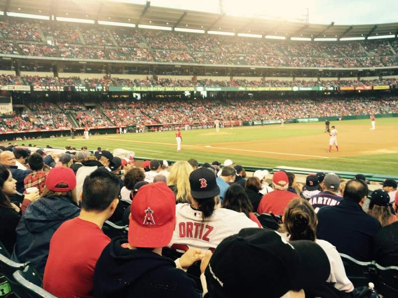 Angel Stadium, section: F127, row: H, seat: 13