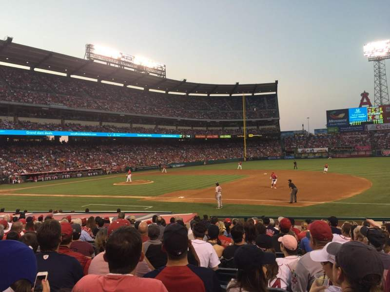 Seating view for Angel Stadium Section F127 Row R Seat 7