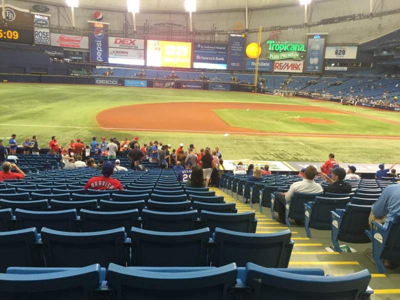 Seating view for Tropicana Field Section 119 Row BB Seat 9