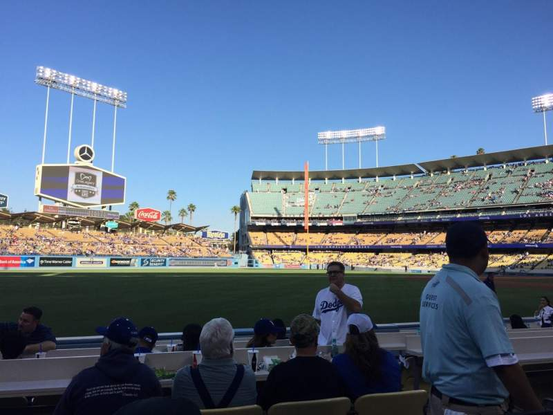 Seating view for Dodger Stadium Section 45FD Row B Seat 3