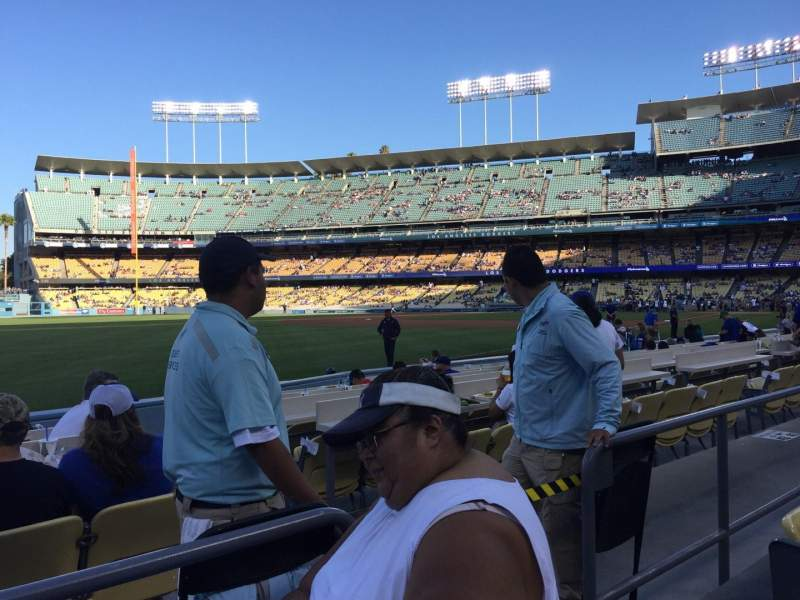Seating view for Dodger Stadium Section 45FD Row B Seat 4